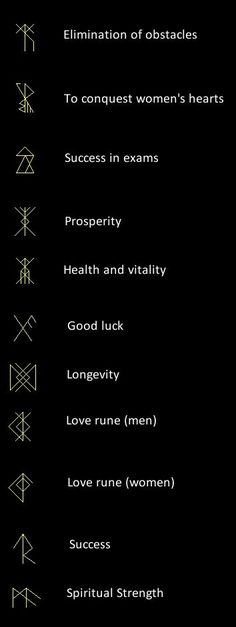 Runes as talismans