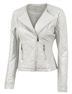 LE3NO Womens Faux Leather Quilted Zip Up Moto Biker Jacket with Stitching Detail LE3NO http://www.amazon.com/dp/B00NLVX3L8/ref=cm_sw_r_pi_dp_Xxyrub1BJKAEX