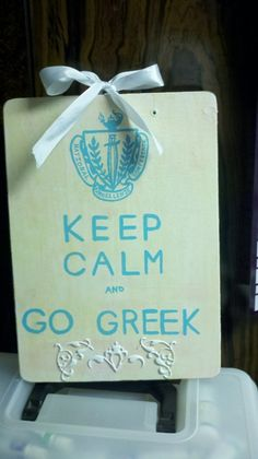 Keep Calm & Go Greek