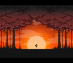 This looks awesome. Concept art for Witchmarsh. Very similar looking style to Sword and Sworcery. neo pixel art