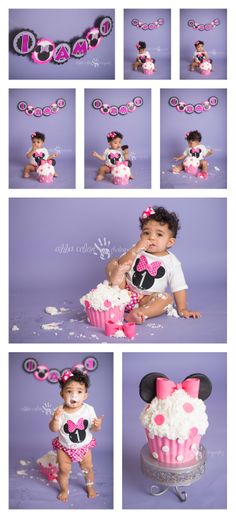 Mini Mouse Cake Smash Photography Houston baby Photographer  Abba Color Photography  www.facebook.com/abbacolor www.abbacolor.blogspot.com