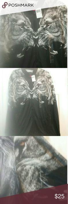 NWT Sean John graphic lion print jacket size 3XB BEAUTIFUL Lion design graphic jacket. Brand new never worn. Wonderful designed jacket. Design is on the back of jacket as well. Sean John Jackets & Coats Bomber & Varsity