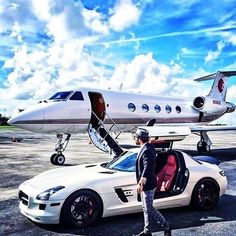 private jets and car