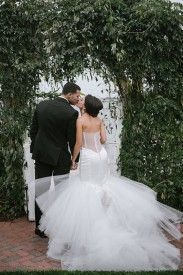 Beautiful wedding gown back.
