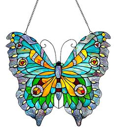 Stained Glass Swallowtail Butterfly Window Panel