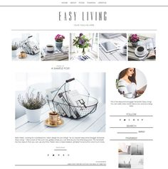 Need a new blog design for your Blogspot Blogger blog? Easy Living is a pretty Blogger template with an auto top gallery layout. It's a clean, responsive blogger template for Blogspot blogs. Choose from two layouts!  Professional, easy blogging for a new design for your blog. Click for more info http://www.boutique-website-design.com/store/c9/Blogger_Templates.html#.Vs7EJH0rLDd