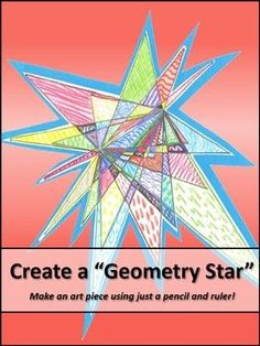 "Create a ""Geometry Star"" This is one of my favorite geometry activities to do with upper elementary students. Art Lessons Elementary, Elementary Math, Upper Elementary, Math Lessons, Montessori Elementary, Teaching Geometry, Geometry Activities, Math Activities, Geometry Vocabulary"