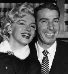 "In this Jan. 14, 1954 file photo, Joe DiMaggio baseball's famed ""Yankee Clipper,"" and screen actress Marilyn Monroe, smile cheek to cheek as they wait patiently in Judge Charles Perry's chambers for their marriage ceremony in San Francisco. The wedding climaxed a romance of more than a year. (AP Photo, File)"