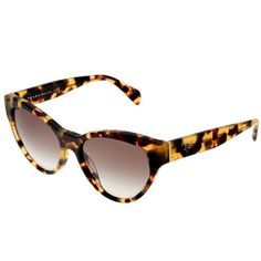 Prada Prada Women's 0pr 08ss 55mm Sunglasses | Bluefly.Com (1.020 DKK) ❤ liked on Polyvore featuring accessories, eyewear, sunglasses, brown, brown round sunglasses, cat-eye glasses, wide sunglasses, round lens sunglasses and uv protection sunglasses