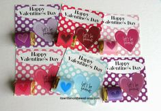A Valentine's Day Card with a Hershey Nugget attached - Sweet Treat for the kids at school #ValentineCard #ValentinesDay #Hershey