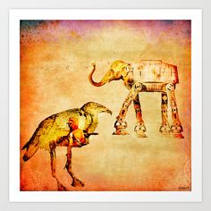 The empire of animals attacks Art Print by ganech - $15.60