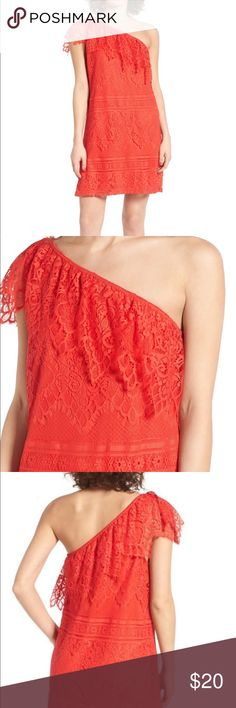 Love Fire Lace One Shoulder Dress size S NWT Love Fire  Lace One Shoulder dress  Size S  NWT  One cap sleeve  Lined   For more information please contact me love fire Dresses One Shoulder