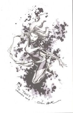 Jean Grey - Dark Phoenix by Olivier Coipel * Comic Book Artists, Comic Artist, Comic Books Art, Jean Grey Phoenix, Dark Phoenix, Marvel Comics, Ms Marvel, Marvel Heroes, Captain Marvel