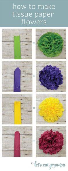 How to Make Paper Flowers Tutorial from @Elaine Tricoli's Eat Grandpa {Cori George}!