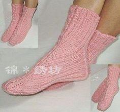 Мастер-класс по вязанию японских треугольных носков.