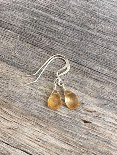 A personal favorite from my Etsy shop https://www.etsy.com/listing/153829142/yellow-quartz-earrings-drop-earrings