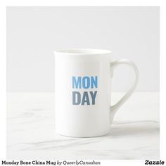 Monday Bone China Mug