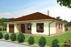Projekt domu bungalov DEKOR1 Home Fashion, Pergola, House Design, Outdoor Structures, Mansions, House Styles, Outdoor Decor, Case, Home Decor