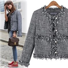 What Would Holley Wear: Classy Girls Wear Pearls Chanel Tweed Jacket, Chanel Style Jacket, Boucle Jacket, Tweed Coat, Classy Outfits, Stylish Outfits, Cool Outfits, Cute Fashion, Fashion Outfits