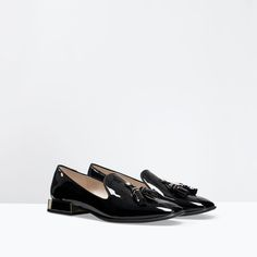 ZARA - SHOES & BAGS - PATENT SLIP-ON SHOES