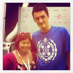 During the AAMI Kooyong Classic tournament which I had the opportunity of doing the social media for, I managed to get a photo with Australian tennis player, Bernard Tomic. I don't care what the tabloids say, he is actually really really TALL and LOVELY.  #AAMIClassic #tennis #sports #sport #Kooyong #BernardTomic #Melbourne #Australia