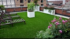 Transform any rooftop from dull to exciting and always green, with SYNLawn #artificialgrass