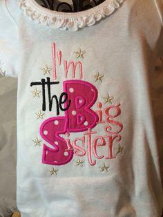 DIY Lil Sis/Big Sis shirts (template includes Lil Bro/Big Bro ...