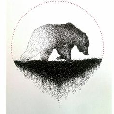 Diseño Dotted Drawings, Cool Art Drawings, Animal Drawings, Art Sketches, Dot Art Painting, Painting & Drawing, Stippling Drawing, Circle Art, Dot Work
