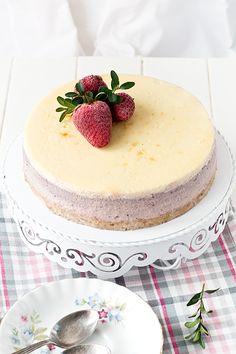 Cheesecake de fresa y queso mascarpone