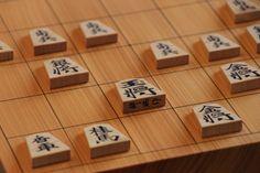 本局の使用駒と盤、駒箱