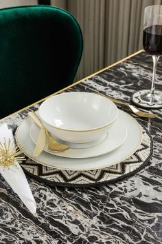 The Prism tableware range oozes Art Deco glamour with a sleek modern twist. Part of the new Golden Age trend from A by Amara, they will make every meal Gatsby worthy. Dinner Plate Sets, Dinner Plates, Dining Room Inspiration, Art Deco Design, Luxury Gifts, Art Deco Fashion, Pattern Fashion, Golden Age, Dinnerware