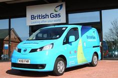 Nissan's all-electric e-NV200 electric delivery van, in British Gas livery, is currently being tested to see on which routes it works best in the UK.
