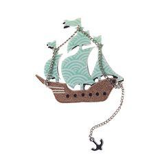 ship brooch by erst wilder