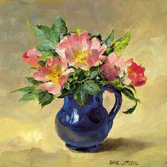 Briar Roses - Blank Card | Mill House Fine Art – Publishers of Anne Cotterill Flower Art