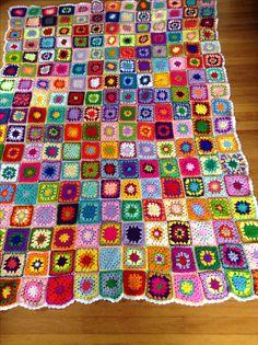 My crochet blanket...done!