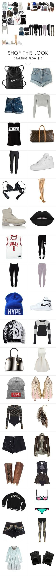 """""""Packing for Tour"""" by kaelighofficial ❤ liked on Polyvore featuring NIKE, Nasty Gal, Wildfox, Topshop, Vero Moda, Louis Vuitton, Boohoo, Chantal Thomass, Privileged and Timberland"""