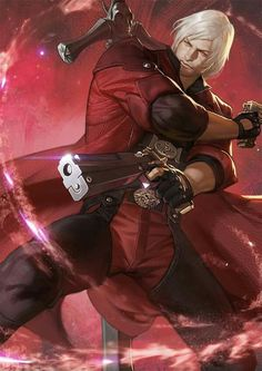 Devil may cry Dante art from Kinetiquettes