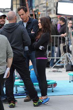 "Primera imagen de Will Arnett y Megan Fox en el set de rodaje de ""Teenage Mutant Ninja Turtles"""
