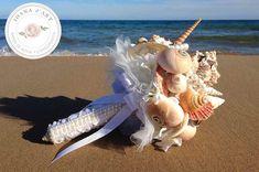 Ramo de novia con conchas y estrellas de mar perlas por IoanadArt