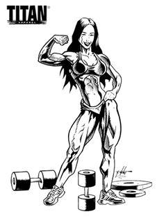 3d Art Drawing, Body Drawing, Woman Drawing, Bodybuilding Logo, Aesthetics Bodybuilding, Logos Gym, Og Abel Art, Gym Motivation Wallpaper, Deviantart