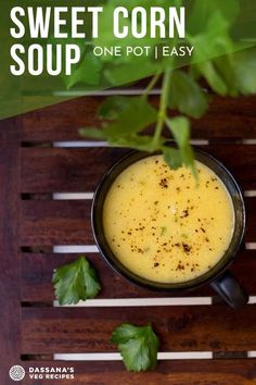 Easy and delicious corn soup made from fresh American sweet corn, herbs and spices. Very easy and a favorite for soup lovers! Corn Soup Recipes, Vegetable Soup Recipes, Healthy Soup Recipes, Cooking Recipes, Lasagna Recipes, Ramen Recipes, Carrot Recipes, Rib Recipes, Fudge Recipes