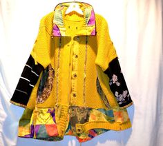 Recycled sweater coat jacket by LeelaCouture on Etsy, $167.00