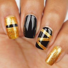 Get off on our site and be inspired by all these colorful beautiful nail art designs from our customers, you will definitely find one favorite kind to try in each season! Fabulous Nails, Perfect Nails, Gorgeous Nails, Pretty Nails, Amazing Nails, Sparkle Nails, Glam Nails, Diy Nails, Golden Nail Art