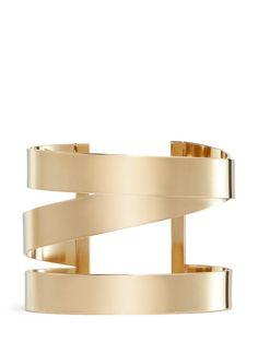 ISABEL MARANT Three line brass cuff