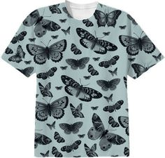 Blue Butterflies tee