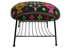 1960s Midcentury Bench w/ Contemporary Fabric - OneKingsLane.com