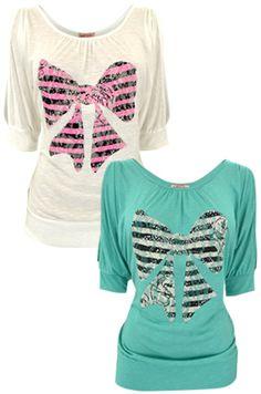 Really cute bow shirts! Looks like BFF shirts to me!!!!