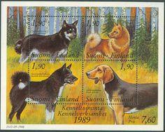 Finland - F BL 5 Hundar - Kennelverksamhet 100 år, Block ** National Art Museum, Old Toys, Grenada, Postage Stamps, Moose Art, Old Things, Childhood, History, Retro