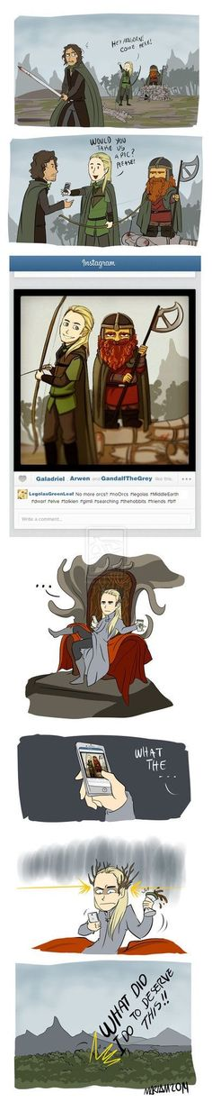 Where'd he get Starbucks in Middle Earth?