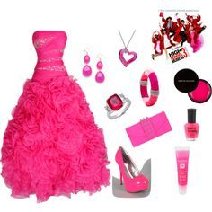 sharpay evans PROM, created by haleymanchan on Polyvore